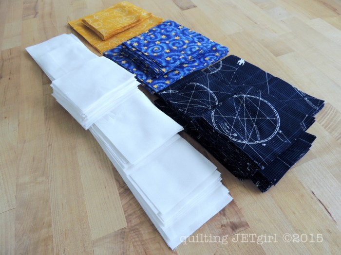 Midnight Mystery Quilt - Fabric Prep