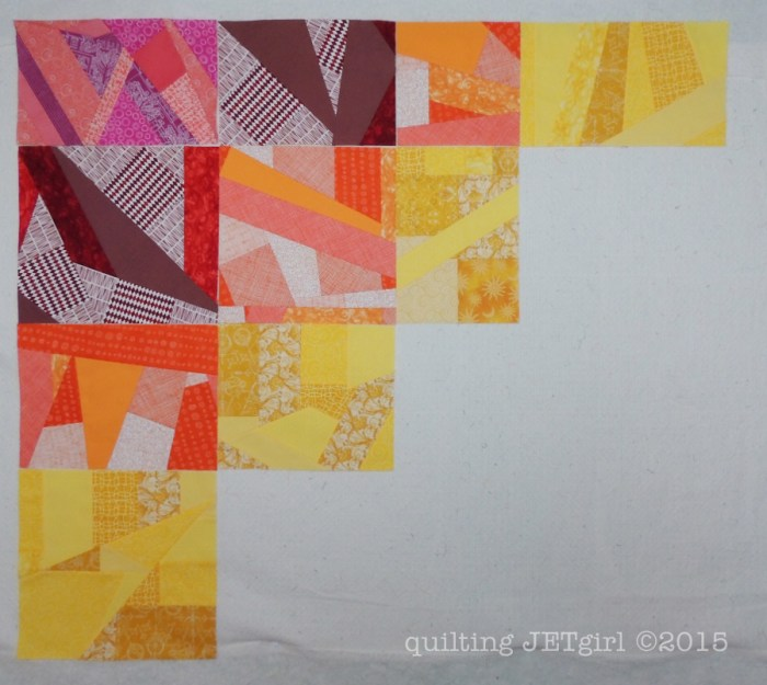 Rainbow Scrap Quilt Progress