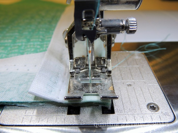 Selvage Binding Tutorial - Sewing down raw edge of selvage