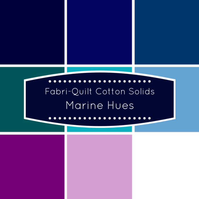 Fabri-Quilt Cotton Solids Marine Hues