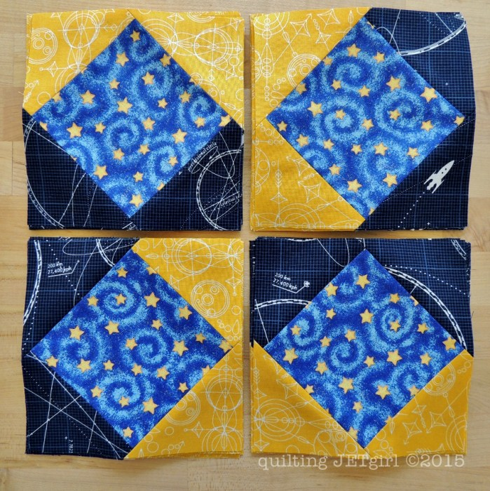 Midnight Mystery Quilt - September Square in a Square Blocks