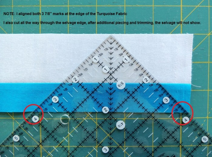 Piecing Step 2 - Ruler Alignment