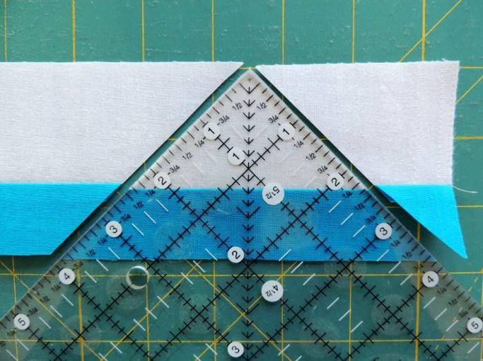 Piecing Step 2 - First Cut