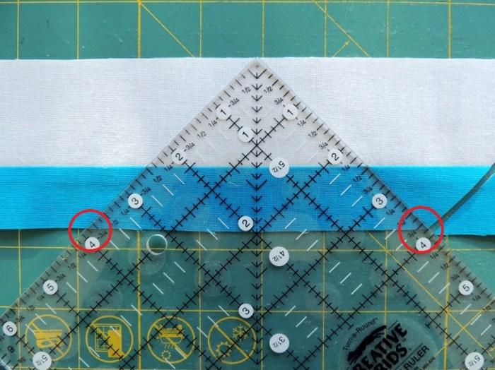 Piecing Step 2 - Repeat Ruler Alignment