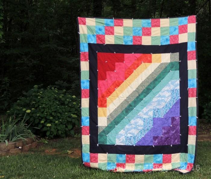 Rainbow Twin Quilt