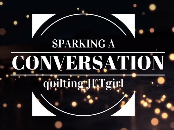 Sparking a Discussion
