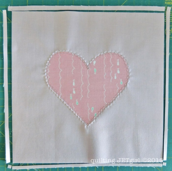 Applique Heart Block Tutorial Step 3
