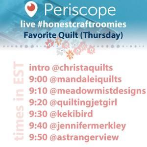 #HonestCraftRoomies - Favorite Quilt (Thursday)