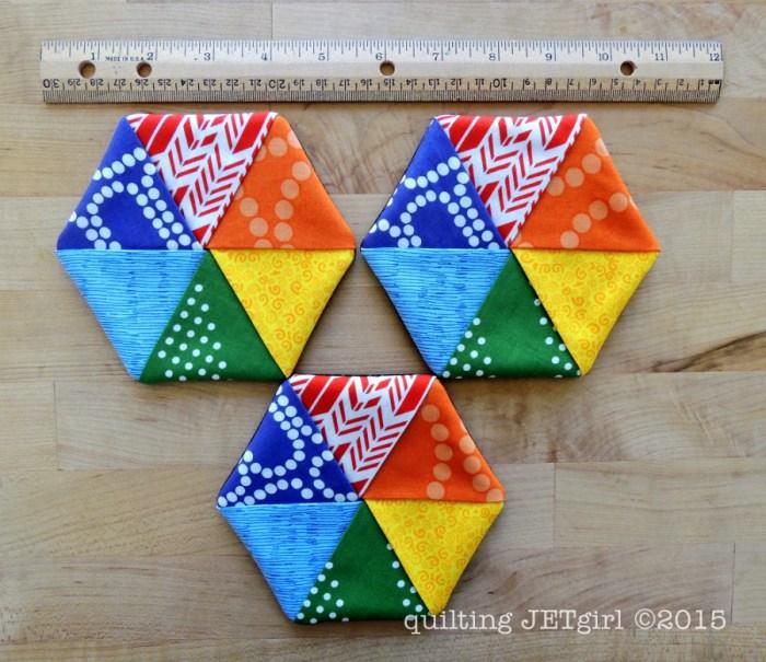 Five Minute Hexie Coasters