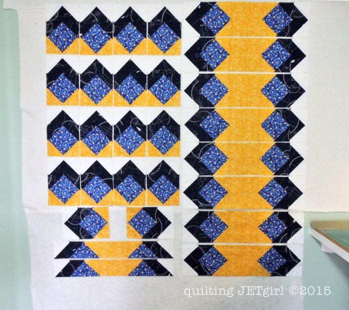 Midnight Mystery Quilt - Assembly Part 1