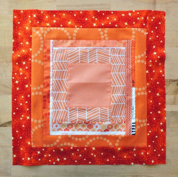 November Stash Bee Block - Courthouse Step with Selvages