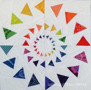 Triple Goosed Mini Quilt - Paper Pieced Portion
