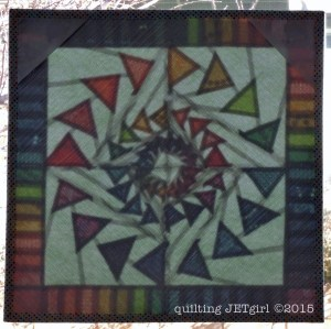 Triple Goosed Mini Quilt - Stained Glass View