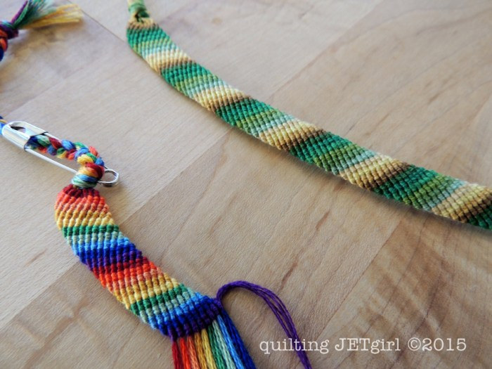 Friendship Bracelets - Rainbow for me, Color Gradation for my husband