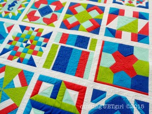 Lap Charity Quilt - Quilting Detail Prior to Wash