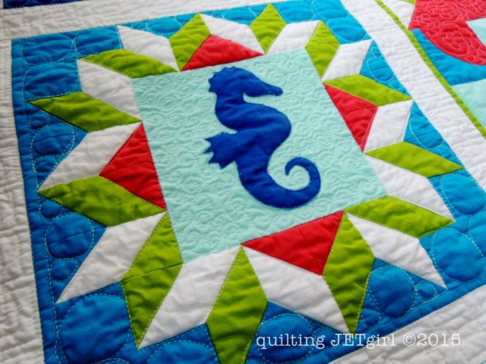 Lap Charity Quilt - Post Wash Detail