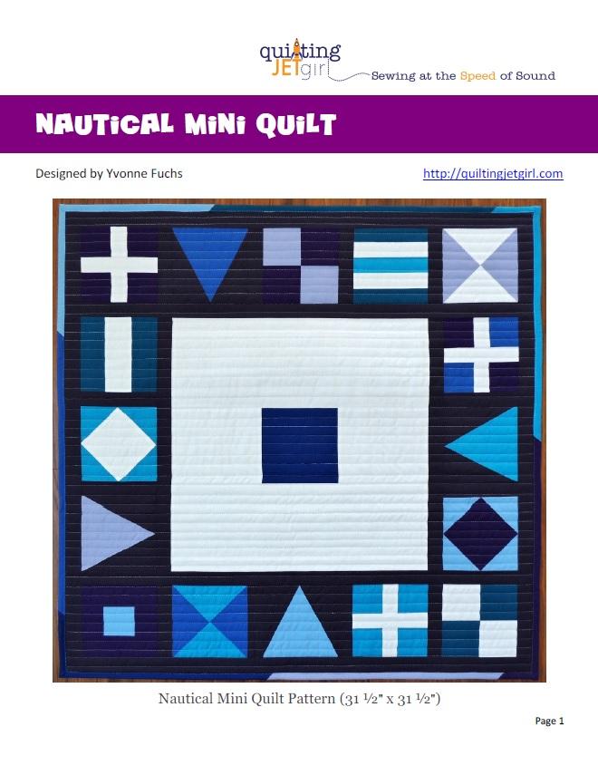 Nautical Mini Quilt PDF Cover