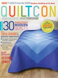 2016 QuiltCon Magazine Cover - Featuring Sunburst by Yvonne @Quilting Jetgirl