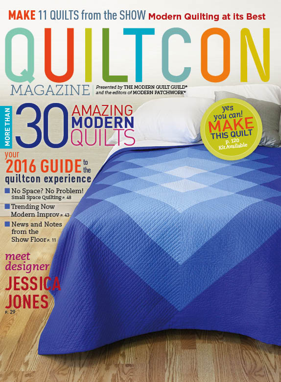 2016 QuiltCon Magazing Cover - Featuring Sunburst by Yvonne @Quilting Jetgirl