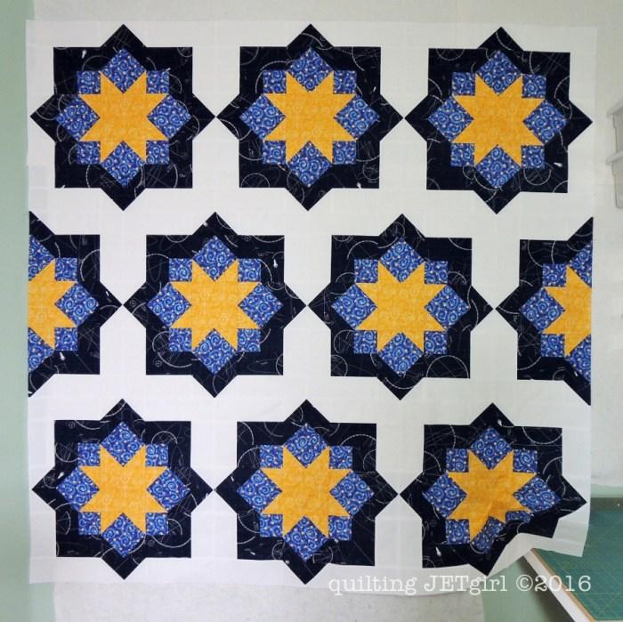 Midnight Mystery Quilt - Pieced Quilt Top