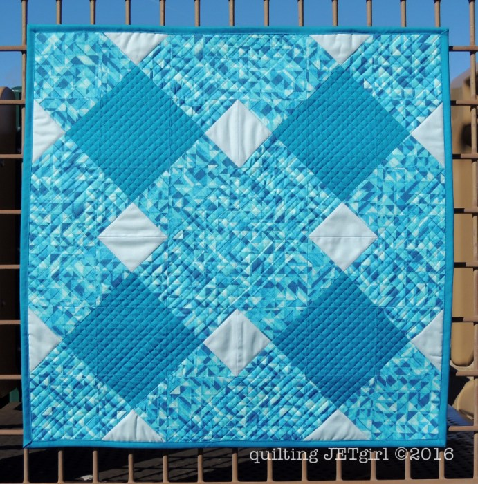 Pool Tile Mini Quilt