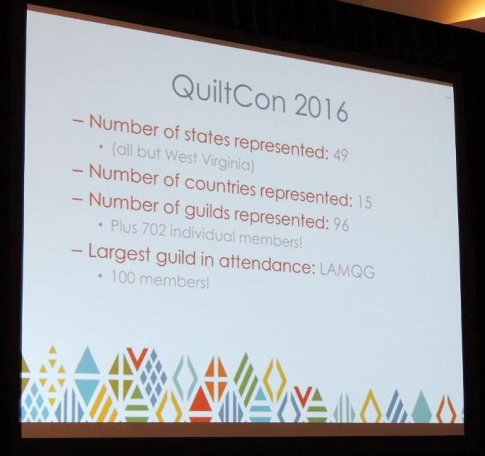 QuiltCon 2016 Statistics