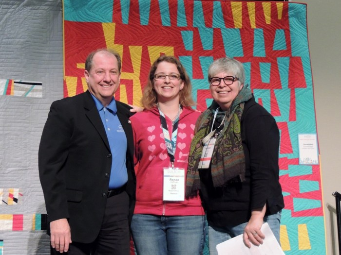 Renee at QuiltCon 2016 Awards Ceremony
