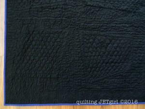 Rockabilly Baby Quilt - Quilting Texture Post-Wash