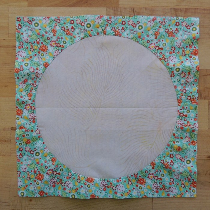 Sewing Full Circles: Finished Block