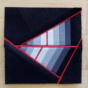 Thin Red Line Pieced Top