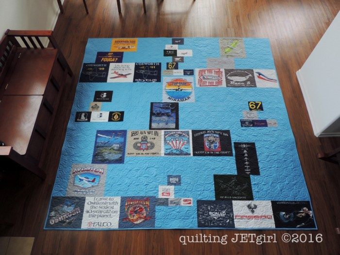 Missing Man TShirt Quilt