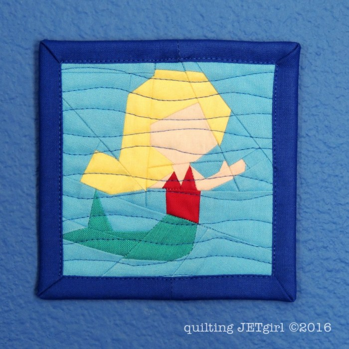 Teeny Tiny Mermaid Mini Mini Quilt