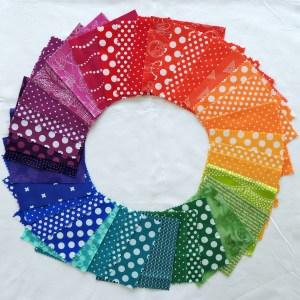 Rainbow Rose QAL Fabric Selection