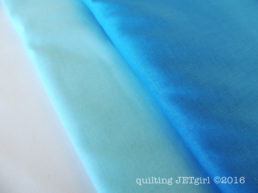 Snowflake Shimmer in Blue - Michael Miller Cotton Couture in Bright White, Sky, and Blue
