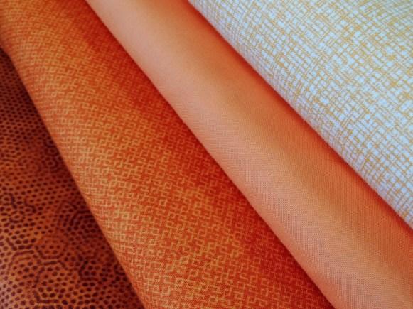 Triangle Transparency Sample Fabric Bundle: Orange