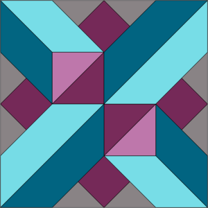 Berry Crossing Block - Colorway 1