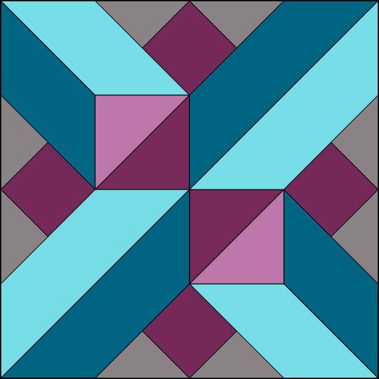 Berry Crossing Block - Colorway 1