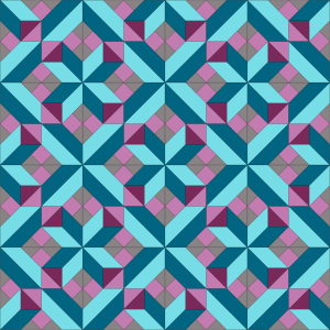 Berry Crossing Quilt Layout - Colorway 2