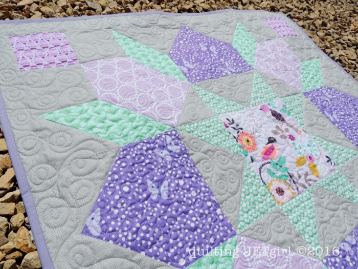 Lucent Baby Quilt - Quilting Detail