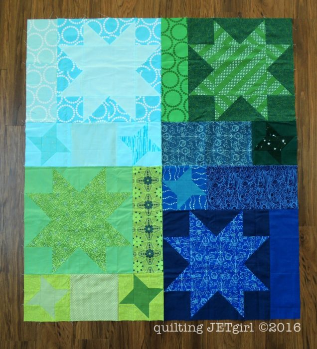 Star Light Star Dark QAL - Pieced Quilt Top
