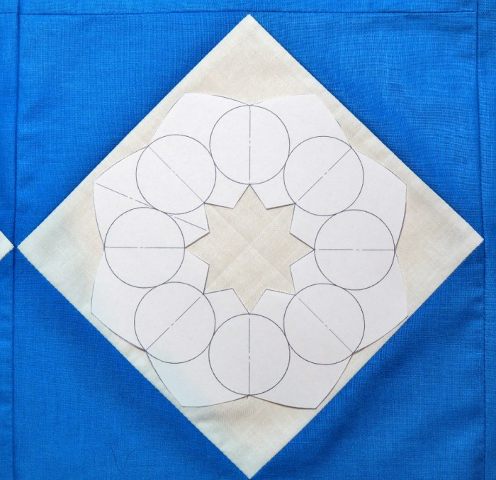 Using the Snowflake Shimmer Quilting Template - Step 2