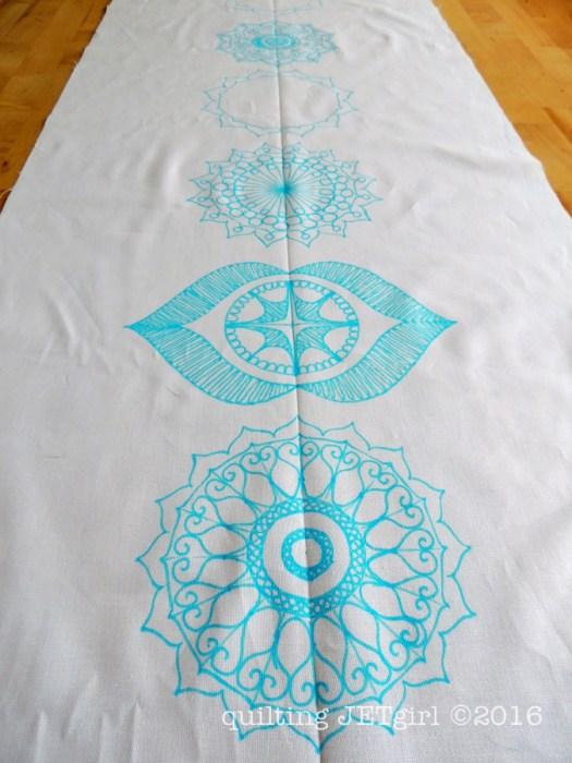 Chakra Mini Quilt Commission - WIP