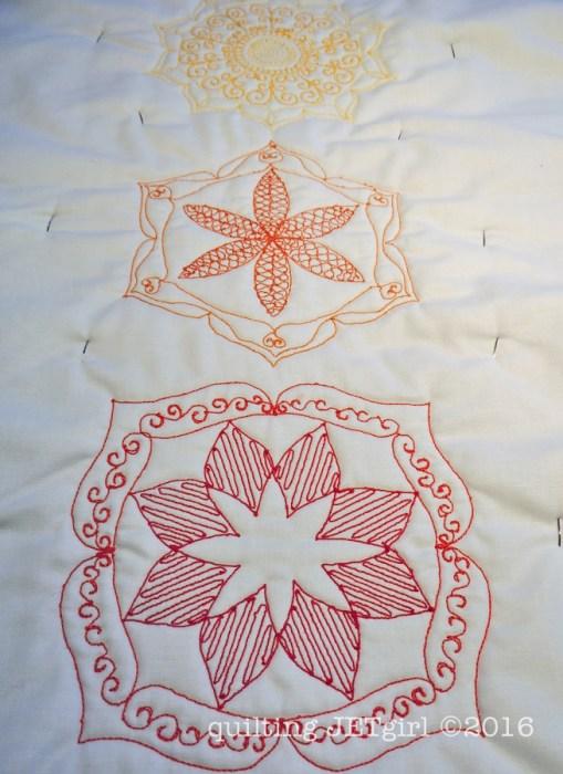 Chakra Mini Quilt WIP