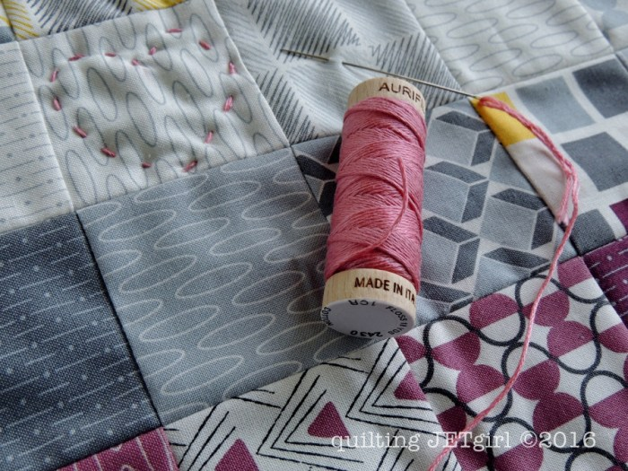 Doll Quilt - Hand Quilting