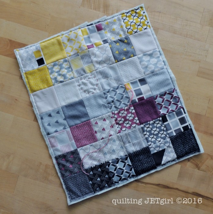 Doll Quilt - Made from a Mini Charm Pack of Chic Neutrals for Moda