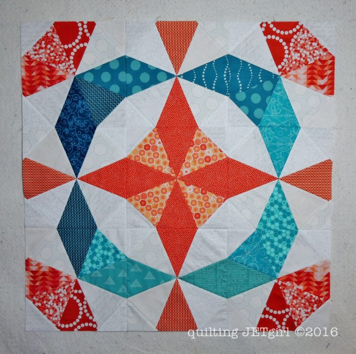Kaleidoscope Mini Quilt Top