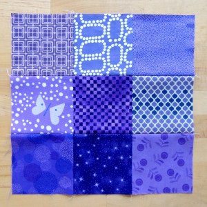 October Stash Bee Block - Purple