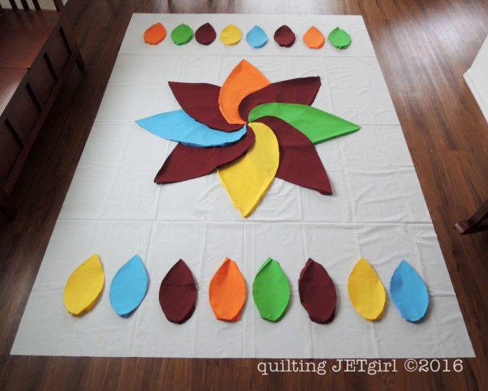 Cocoa Leaf Quilt - Playing with Layout