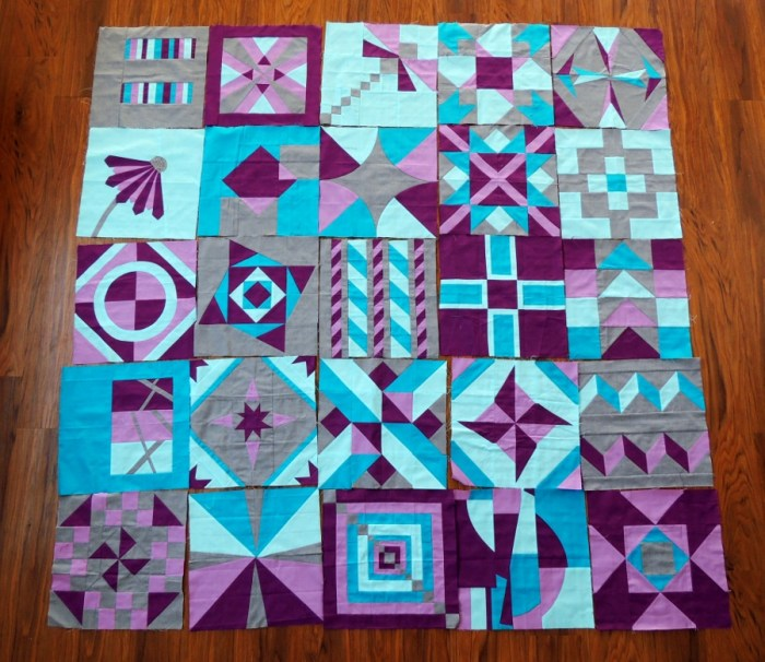 Cloud9 Charity Quilt - 25 Blocks & Tentative Layout