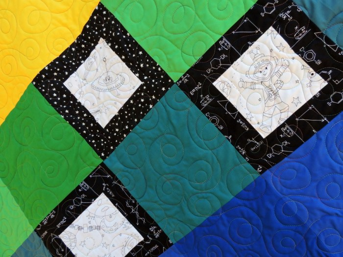 Layered Diamonds - Version Two Quilting Detail